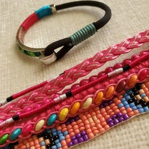 Two Fun and Funky Brightly Colored Bracelets